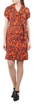Akris Punto Tropical-Leaf Jacquard A-Line Knee-Length Skirt
