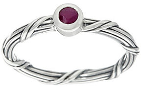 Peter Thomas Roth As Is Sterling Ruby Signature Romance Ring