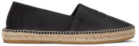 Kenzo Black Leather Tiger Espadrilles