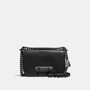 COACH Coach Swagger Shoulder Bag 20 In Glovetanned Leather - DARK GUNMETAL/BLACK - STYLE