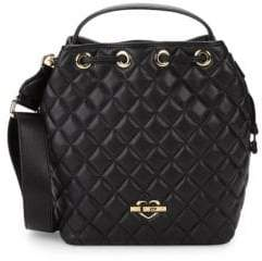 Love Moschino Diamond Quilted Bucket Bag