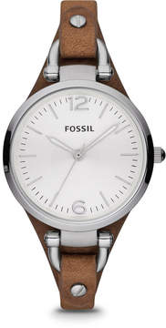 Fossil Georgia Brown Leather Watch