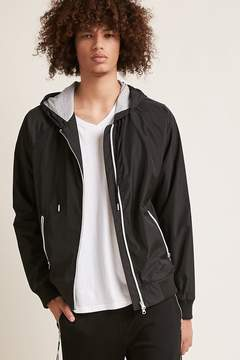 21men 21 MEN Hooded Windbreaker Jacket