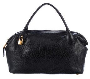 Marc Jacobs Leather Ava Satchel - BLACK - STYLE