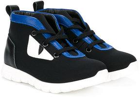 Fendi Kids lace-up sneakers