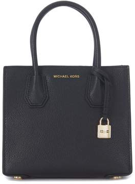 Michael Kors Handbag Model Mercer Messenger In Black Tumbled Leather - NERO - STYLE