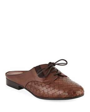 Sesto Meucci Neala Woven Slide Oxford Mule, Brown