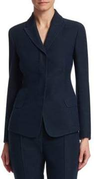 Akris Oklahoma Denim Wool-Blend Jacket