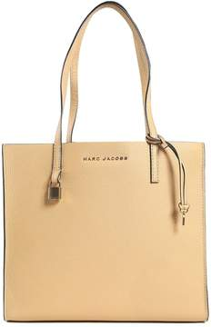 Marc Jacobs The Grind Leather Shopping Bag - BEIGE - STYLE