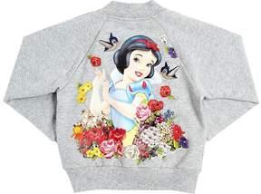 MonnaLisa Snow White Zip-Up Cotton Sweatshirt