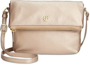 Giani Bernini Pebble Leather Mini Crossbody, Created for Macy's