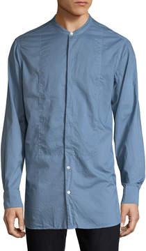 Dries Van Noten Men's Solid Cotton Sportshirt