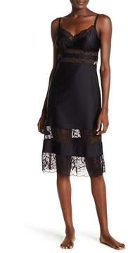 Commando Lux Satin Midi Lace Slip Dress