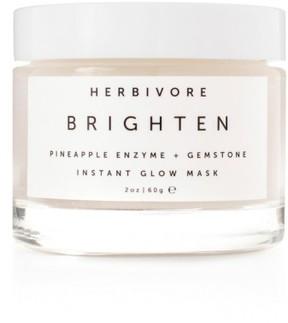 Herbivore Botanicals Brighten Pineapple Enzyme + Gemstone Instant Glow Mask