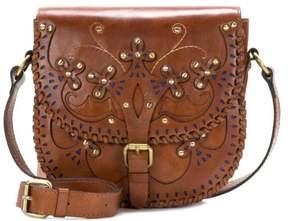 Patricia Nash Montilla Leather Western Cutout Small Flap Bag