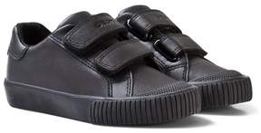 Geox Black Junior Kiwi Velcro Trainers