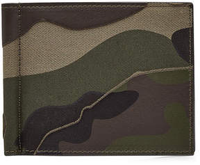 Valentino Camouflage Print Leather Card Wallet