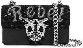 Pinko Rebel embellished shoulder bag