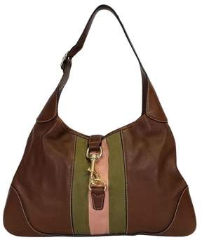 Gucci Small Brown Stripe Hobo Bag - BROWN - STYLE