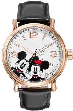 Disney Disney's Mickey & Minnie Mouse Unisex Leather Watch