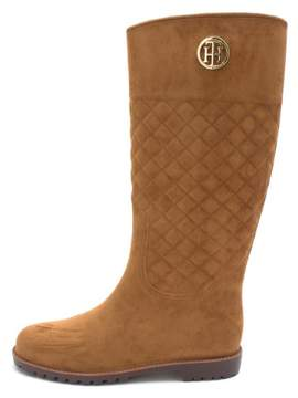 Tommy Hilfiger Womens Babette Fabric Round Toe Knee High Fashion Boots