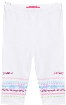 Lelli Kelly Kids White Sequin Branded Leggings