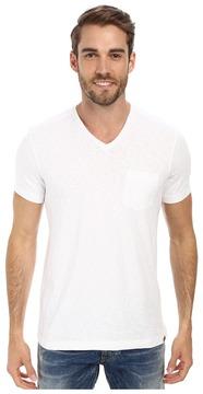 Kenneth Cole Sportswear - Acid Washed V-Neck Men's Short Sleeve Knit