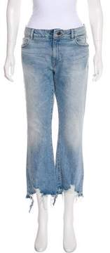 DL1961 Lara Cropped Flare Sunset Mid-Rise Jeans
