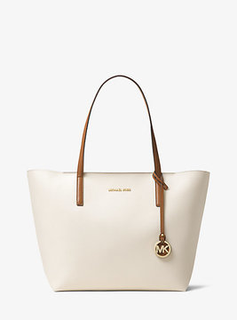 Michael Kors Hayley Large Coated Canvas Tote - NATURAL - STYLE