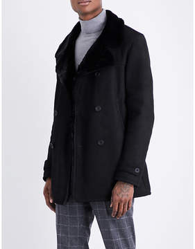 Richard James Shearling suede peacoat