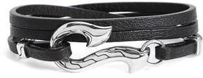 John Hardy Men's Dayak Leather Wrap Bracelet