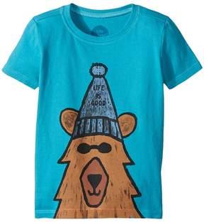Life is Good Happy Bear Crusher Tee Boy's T Shirt