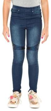 Dex Girl's Sequin-Accented Jeggings