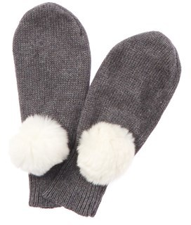 Rachel Riley Girls' Grey Cashmere-blend Mittens.