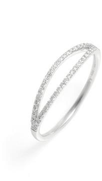 Bony Levy Women's Kiera Two-Row Diamond Stack Ring (Nordstrom Exclusive)