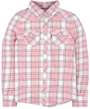 Levi's Girls 4-6x Pink Western Plaid Shirt