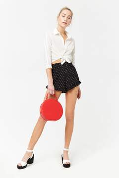Forever 21 Ruffled Polka Dot Shorts