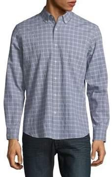 Black & Brown Black Brown Plaid Seersucker Button-Down Shirt