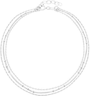 Bliss Sterling Silver Triple-Layered Anklet