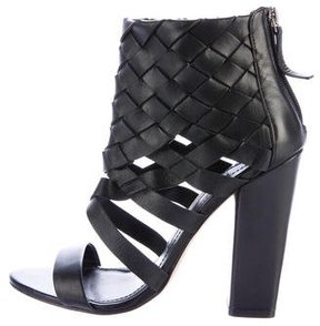 Camilla Skovgaard Woven Leather Ankle Sandals