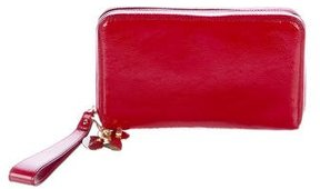 Saint Laurent Charms Leather Pochette - RED - STYLE