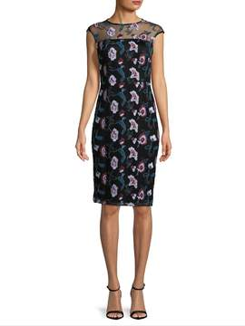 Donna Ricco Women's Floral Embroidered Sheath Dress