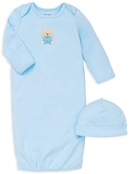 Little Me Boys' Bear Gown & Hat Set - Baby