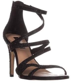 INC International Concepts I35 Regann2 Strappy Evening Sandals, Black.