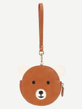 Shein Bear Design Round PU Wallet