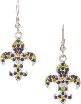 Carole Green & Yellow Fleur-De-Lis Drop Earrings