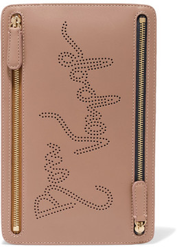 Smythson - Piccadilly Perforated Leather Pouch - Beige
