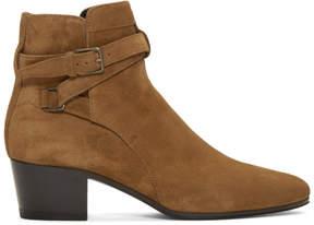 Saint Laurent Tan Suede Blake Jodhpur Boots