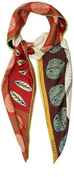 VALENTINO Counting-print silk scarf