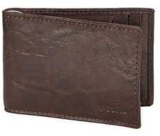 Fossil Textured Leather Bi-Fold Wallet